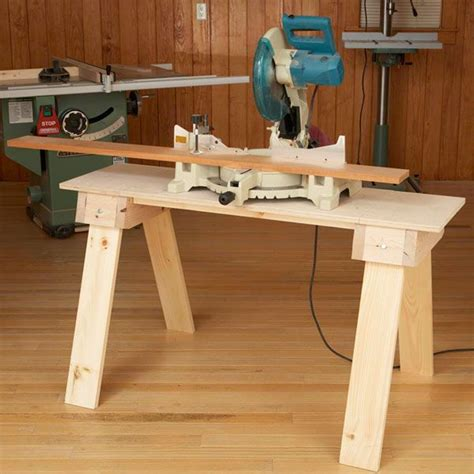 knockdown sawhorse mini bench woodworking plan  wood