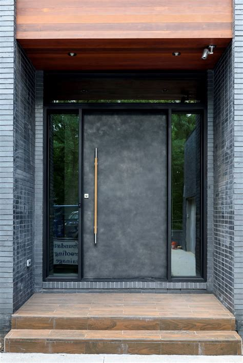 custom modern pivot door installation  atlanta scardino doors
