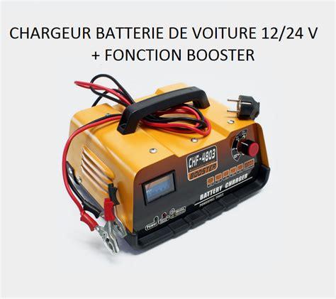 chargeur de batterie voiture 12 24 avec fonction booster