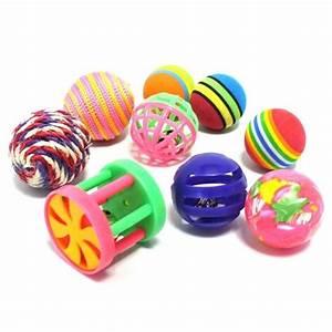 Balle Pour Chat : lot de 9 jouets assortis lot de jouets wanimo ~ Teatrodelosmanantiales.com Idées de Décoration