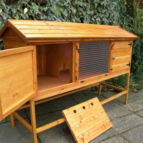 6ft rabbit hutches hutch 6ft on stand wooden