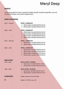 pink triangle free cv and cover letter With free dynamic resume templates