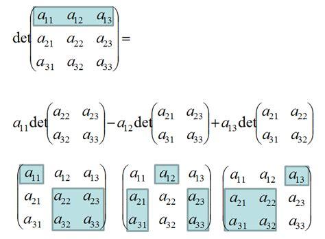 determinante rechenregeln determinantensaetze berechnung