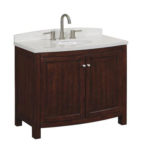 lowes bathroom sink tops shop allen roth moravia sable undermount single sink