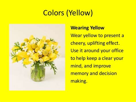 color yellow meaning colors meaning