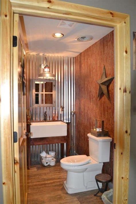 barn bathroom ideas galvanized gooseneck light adds element to barn home bathrooms decor caves and barn homes