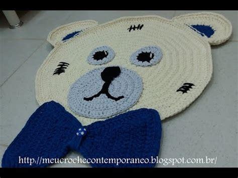 croch 202 com fio de malha tapetes infantis urso zequinha e ursa sofia parte 4 gravata do urso zeq