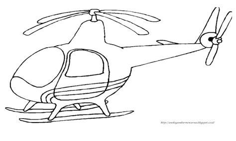 gambar mewarnai helikopter untuk anak paud dan tk