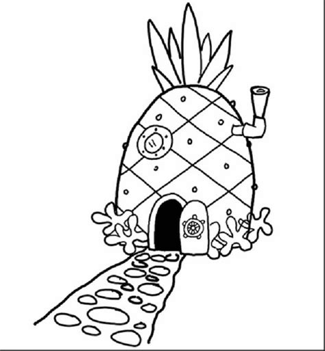 Printable Coloring Pages Spongebob Printable Coloring Page