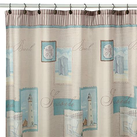 Coastal Shower Curtain by Coastal Collage Fabric Shower Curtain Bed Bath Beyond