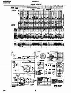 Wiring Diagram Diagram  U0026 Parts List For Model Fwt445ges2 Frigidaire