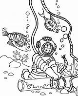 Coloring Diver Fish Children July Printable Temple Israel Template Topcoloringpages источник sketch template