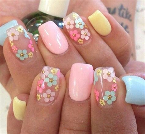 playful spring nails nails   nails easter nail