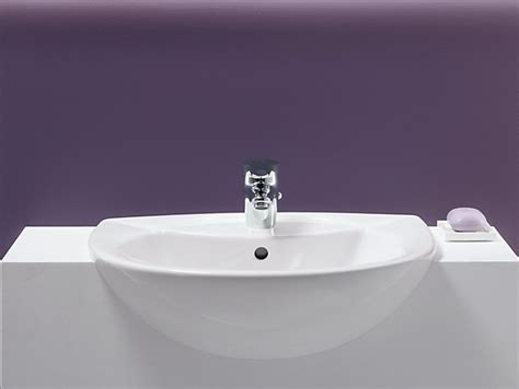 counter depth farmhouse sink odeon semi recessed sink with single faucet hole k 11160