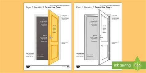 aqa eng lang p  perspective doors activity sheet