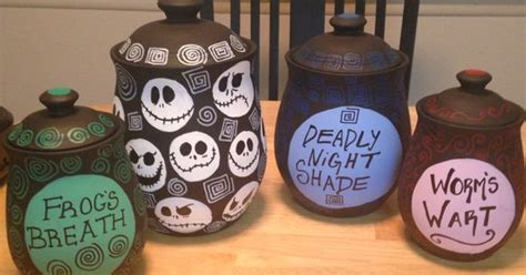 tim burton inspired canisters   nightmare