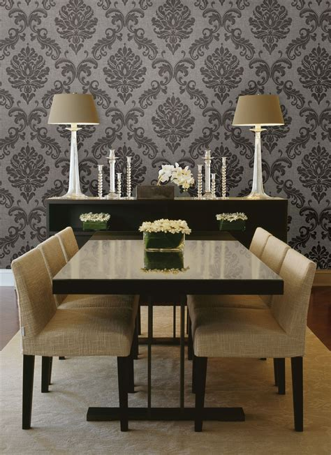 Wand Tapezieren Ideen by Gorgeous Formal Dining Room Decor Idea With A Damask