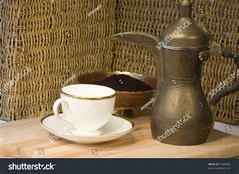 Brass Jordanian Coffee Pot With A Teacup And Ground Coffee Coffee Tables For Sale On Gumtree Canberra Arabic With Ginger Overstock Metal Table Luxury Orlando Pot Clipart Discount