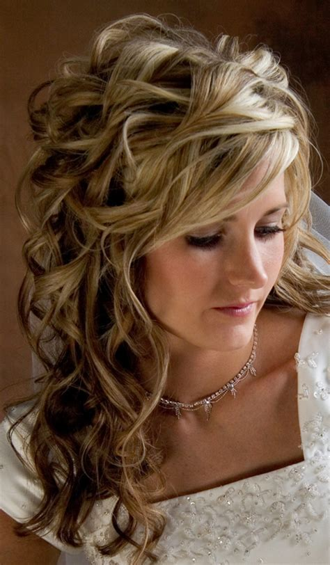 Wedding Hairstyles For Brides for Long Hiar with Veil Half