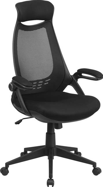 Office Chairs With Flip Up Arms by High Back Black Mesh Executive Swivel Office Chair With