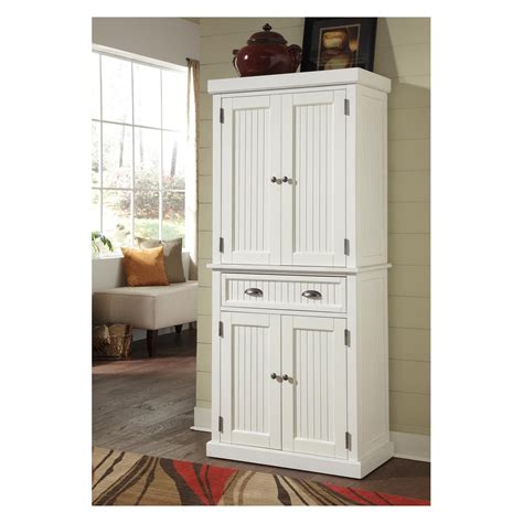 pantry style kitchen cabinets home styles nantucket pantry distressed white pantry