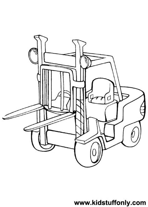 forklift coloring page  getcoloringscom  printable colorings pages  print  color