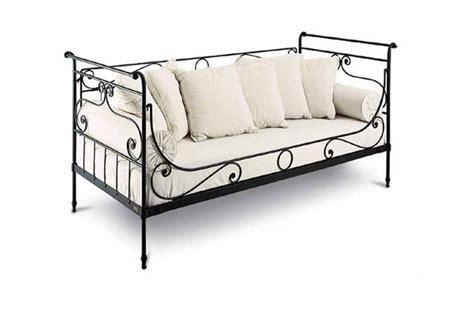 canapé lit en fer forgé banquette lit fer forge