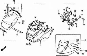 Honda Motorcycle 1984 Oem Parts Diagram For Cowl