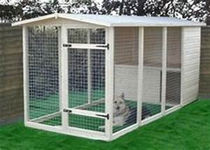 after the finished dog kennel includes a steel fence with With wood chips for dog kennel
