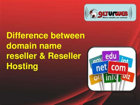 difference between reseller hosting and domain name reseller
