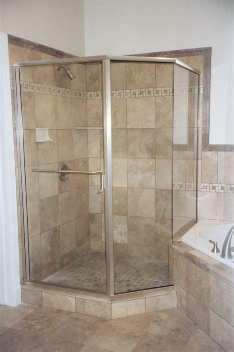 Frameless Neo Angle Shower Doors by Semi Frameless Shower Doors Vision Mirror And Shower Door