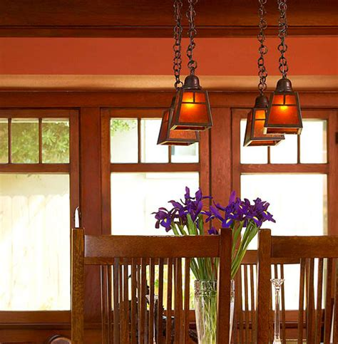 craftsman lighting dining room lighting to accent and define arts crafts homes and
