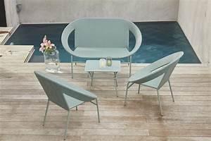 Table De Salon Alinea : salon de jardin m ryl chez alin a inspiration indus ~ Premium-room.com Idées de Décoration