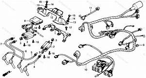 Honda Motorcycle 1988 Oem Parts Diagram For Wire Harness