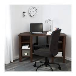 brusali corner desk brown 120x73 cm ikea