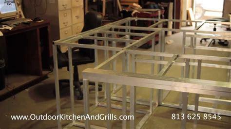 build outdoor kitchen aluminum frame  outdoor