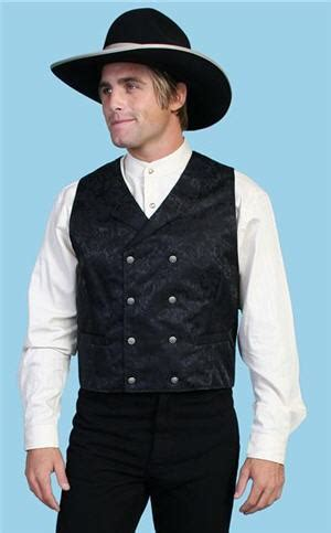 wah maker silk double breasted vest black mens