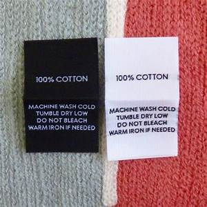 100 cotton garment fabric content label clothing label With cloth product labels