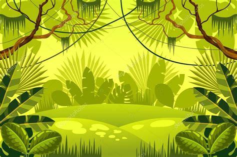 foto de Fundo da selva floresta Vetor de Stock © Scorpion333