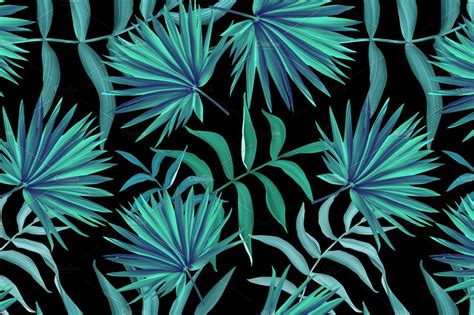 tropical pattern jungle palm leaves graphic patterns