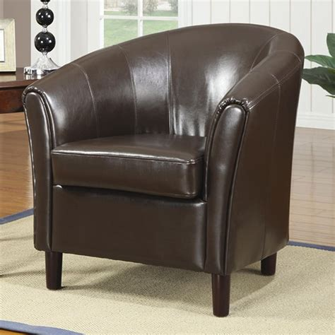 Brown Leather Accent Chair  Stealasofa Furniture Outlet