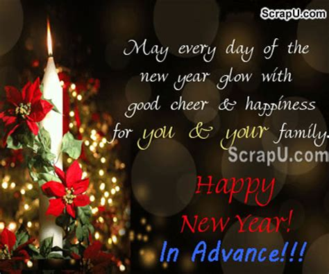 advance happy  year pictures images pictures advance
