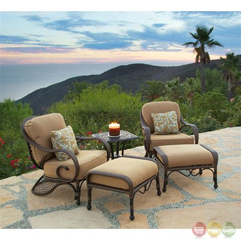 grand bonaire 5 weather resistant wicker patio chair set