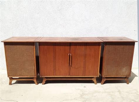 vintage stereo cabinet with turntable vintage stereo cabinet on credenza turntable