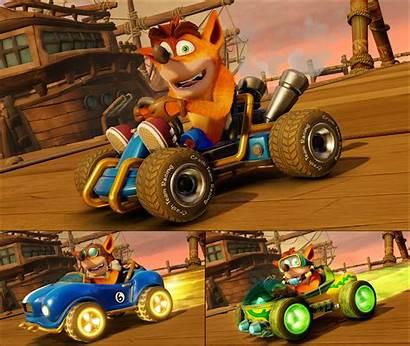 Crash Racing Team Nitro Fueled Bandicoot Skins