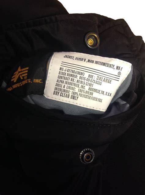 alpha industries ma flight jacket