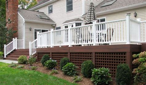 inexpensive deck skirting ideas choosing the right deck for your wine country backyard