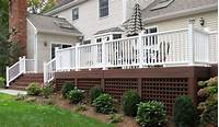 lattice under deck Choosing The Right Deck For Your Wine Country Backyard