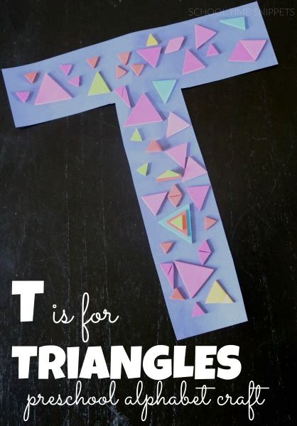 letter    triangles preschool alphabet craft