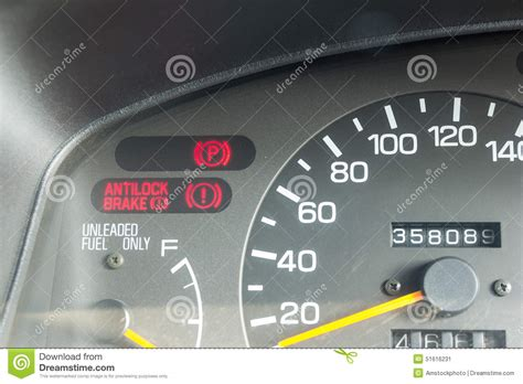 Car Dashboard Warning Lights Symbols Stock Illustration